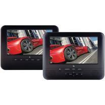 GPX PD7711B Portable 7-Inch Twin Screen DVD Player