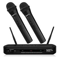 Pyle PDWM2130 Wireless FM Microphone Receiver System with