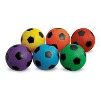 MAC-T PE07927E Dimple Soccer Balls, Assorted Colors, Set of