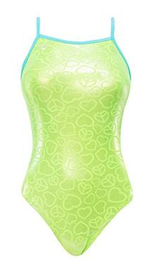 The Finals Women's Peace & Love Foil Wing Back Swimsuit, 36