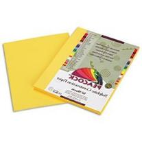 Peacock Sulphite Construction Paper, 76 Lbs., 9 X 12, Yellow