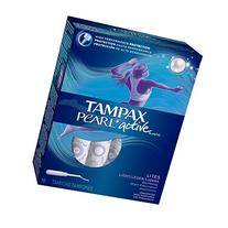 Tampax Pearl Active Plastic Tampons, Lites/Light Absorbency