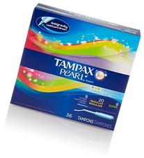 Tampax Pearl Plastic Triple Pack, Light/Regular/Super