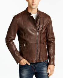 Armani Jeans Men's Pebbled Leather Jacket