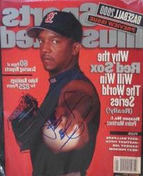 Pedro Martinez autographed Sports Illustrated Magazine