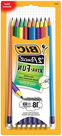 BIC Pencil Xtra Fun, #2 HB, 18-Count