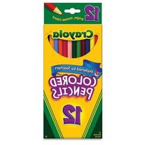 Crayola Long Colored Pencils, 12-Count, Pack of 12, Assorted