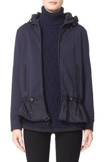 Women's Moncler Peplum Hem Hooded Cotton Jacket, Size Small
