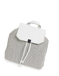 Phase 3 Perforated Faux Leather Backpack - White