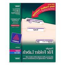 Avery Purple File Folder Labels for Laser and Inkjet