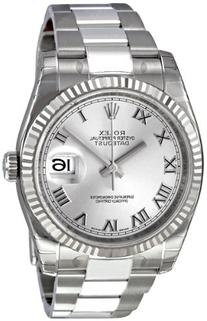 Rolex Perpetual Datejust Rhodium Dial Stainless Steel 18kt