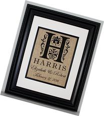 Personalized Burlap Print, Wedding Gift, Anniversary Gift,