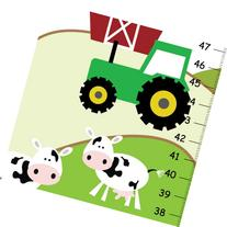 Personalized Canvas Growth Chart Life in Farm, Baby Boys