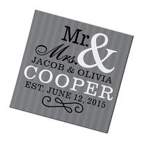 "Personal Creations Personalized Mr. & Mrs. Canvas - 11"" x 11"