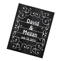 Personal Creations Personalized Scissor Cut Wedding Canvas