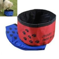 Pet Dog Cat Foldable Travel Outdoor Food Water Feeder Dish