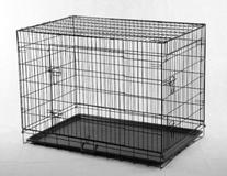 New 48 Pet Folding Dog Cat Crate Cage Kennel w/ABS Tray LC