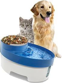 OxGord Pet Fountain Water & Food Bowl Feeder for Dog Cats