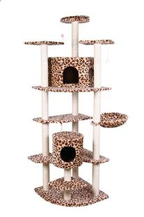 """Confidence Pet 80"""" Palace Cat Tree Scratching Post LEOPARD"""