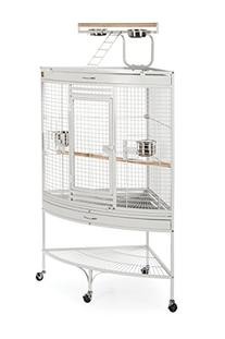 Prevue Pet Products Large Corner Bird Cage 3156W White, 37-