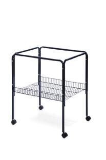 Prevue Pet Products Rolling Stand with Shelf, Black