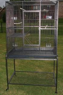 Pet Products Large Wrought Iron Flight Cage With Removable
