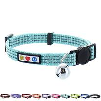 Pawtitas Pet Reflective Cat Collar with Safety Buckle and
