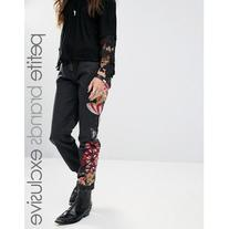 Glamorous Petite Boyfriend Jean With Embroidered Leg