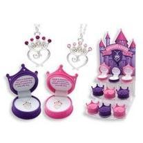 DM Merchandising Petite Princess Crown Necklace - Purple or