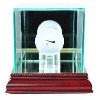 PGA Golf Ball Glass Display Case, Cherry