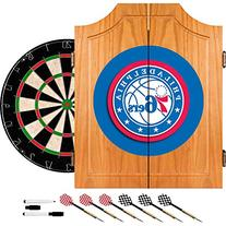 Philadelphia 76ers NBA Wood Dart Cabinet Set