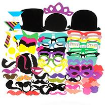 Seekingtag Photo Booth Props 62 Pieces DIY Kit for Weddings