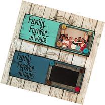 Photo Holder Chalkboard Sign - FAMILY FOREVER ALWAYS -