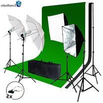 LimoStudio Photo Video Studio Light Kit - Includes Chromakey