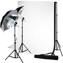 LimoStudio Photo Studio 10'x10' Muslin Black White Backdrop