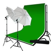 LimoStudio Photography 10'x10' Muslin Black White Green