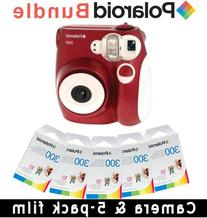 Polaroid PIC-300 Instant Camera in Red Accessory Kit