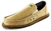 Sanuk Mens Pick Pocket Hemp Shoes Size 10 Tan