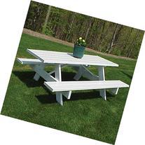 Dura-Trel Traditional White Picnic Table