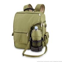 TURISMO Backpack, Olive Green / Tan