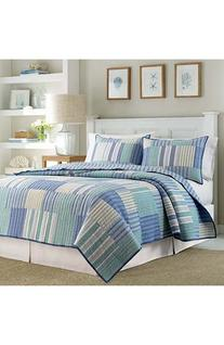 Nautica 'Belle Isle' Pieced Quilt, Size Twin - Blue