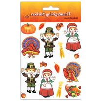 """Pilgrim & Turkey Stickers - 4.75"""" x 7.5"""
