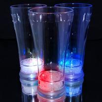 Patriotic Light Up Pilsner Beer Glasses with Red, White &