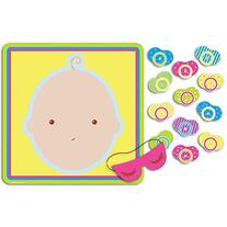 """Beistle 66675 Pin The Pacifier Baby Shower Game, 17"""" x 18.5"""