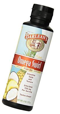 Barlean's Pina Colada Fish Oil Swirl, 8-Ounce