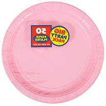 Amscan Amscan New Pink Big Party Pack Dinner Plates , 1,
