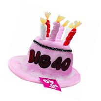 BigMouth Inc Pink Birthday Candle Hat