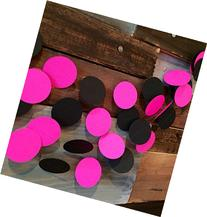 Hot Pink and Black Paper Garland
