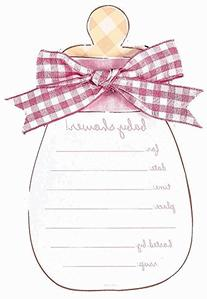 Pink Baby Bottle Jumbo Invitation