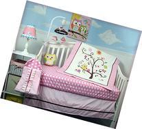 SoHo Pink Cherry Tree Baby Crib Nursery Bedding Set 4 pcs +